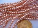 Glass Pearl Beads Pale Coral 3mm